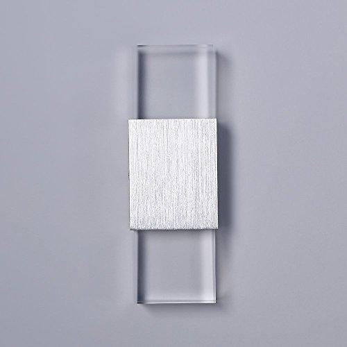 Unimall 6W Illuminazione per Interni Luce Sopra Sotto Lampada da Parete in Alluminio Applique Prate a LED decorativa per Casa Armadio Corridoio Soggiorno Hotel Bianco Caldo - 2