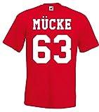 TRVPPY Herren T-Shirt Modell Mücke 63, Rot, XXL