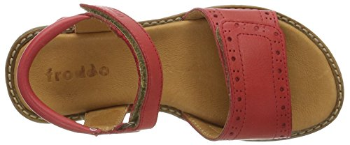 FRODDO Froddo Girls Sandal Red G3150090-3, Sandales  Bout ouvert fille Red (Red)