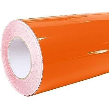 Kinlo selbstklebende folie k che orange 61x500cm aus for Pvc klebefolie