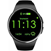 Green Mermaid the New KW18 Smart Watch with IPS Round Screen Bluetooth4.0 and Heart Rate Monitor the Anti-lost Android and IOS Phone Smart Watch KW18 with SIM Card