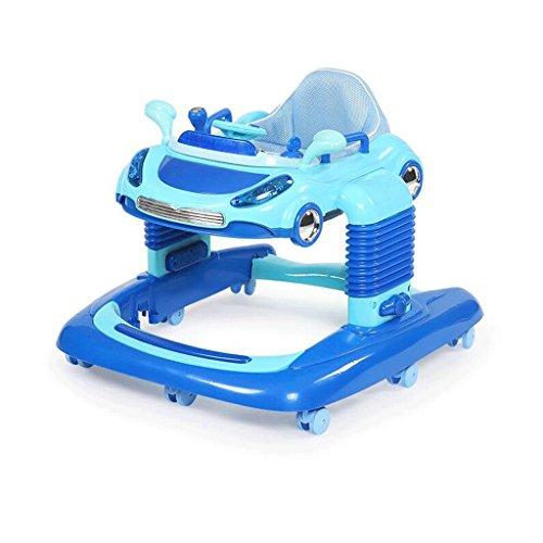 ZHAOJING Lauflernhilfe 6 / 7-18 Monate Baby Anti-Rollover Multi-Datei-Anpassung Schock-absorbierende Luxus Baby Walkers ( Farbe : Blau )