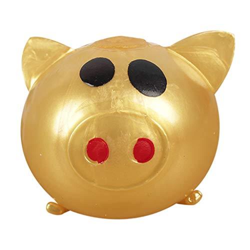 hahuha Toy  Dekompressionsspielzeug,1 stück Jello Schwein Nette Anti Stress Splat Wasser Schwein Ball Vent Spielzeug Venting klebriges Schwein (Leichte Pole-trimmer)