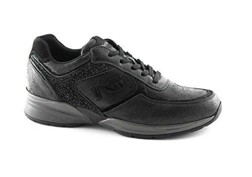 Nero Giardini 16031 Nero Scarpe Donna Sportive Lacci Sneaker Casual zeppetta 37