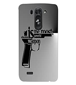 ColourCraft Inspirational Quote Design Back Case Cover for LG G3 BEAT