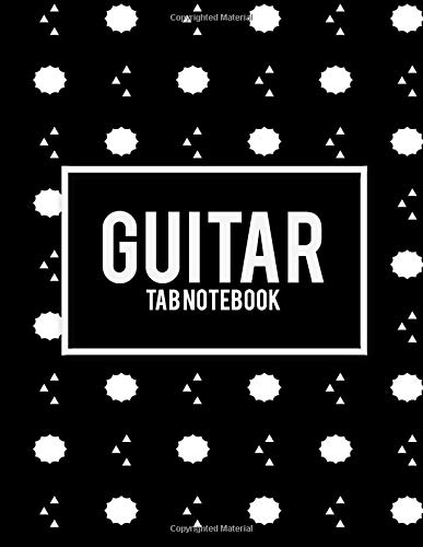 Guitar Tab Notebook: Black Design Book, 8.5