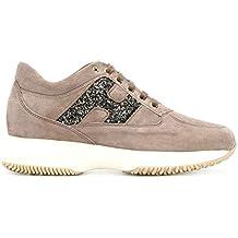 Hogan Scarpe Sneaker Donna Interactive H Spezzata + Ricamo  HXW00N0S3609KE01CD Tortora Scuro f0427b163d6
