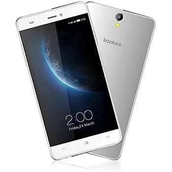 "KOOBEE- Smartphone 5"" HD (fotocamera 13MP, 4G Quad-Core 1.3 GHz, 16GB ROM+2GB RAM, 2 Micro-SIM, Android 6.0), Bianco"