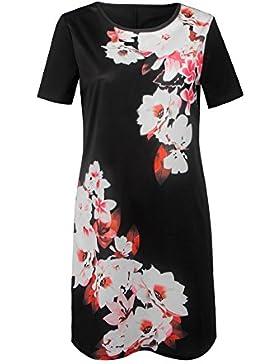 Magnolia suelta Plumeria Imprimir mini vestido