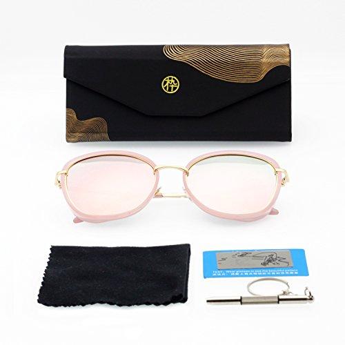 Occhiali da sole polarizzati per uomini e donne–protezione uv 400(con custodia), pink
