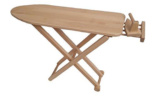 Holzspielzeug-Peitz Kinder-Bügelbrett 5009 - mit Bügeleisen - handgefertigt - Massivholz - klappbar - Handgefertigte Massivholz