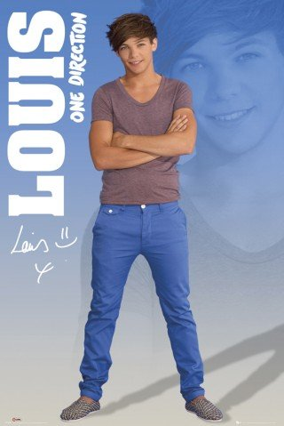 Poster, Motiv: One Direction - 1D Up All Night, Louis Tomlinson 2012 (60.96 es x 36 cm) (Up Night Poster One All Direction)