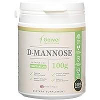 D-Mannosio - 100 g di pura Polvere   NESSUN ADDITIVO   Per la Salute della Vescica e delle vie Urinarie   Confezionato in Strutture certificate ISO in UK - Soddisfatto o Rimborsato (100g)
