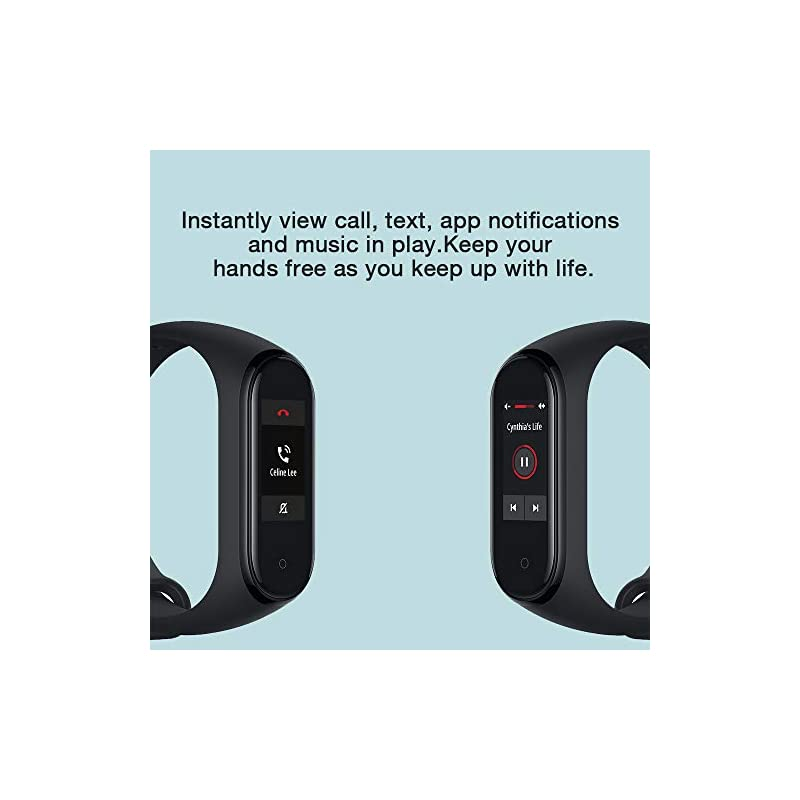 Xiaomi Mi Band 4 Fitness Tracker, 0.95 Inches, Colour, AMOLED Display, Heart Rate Monitor, 50 Metres, Activity Tracker…