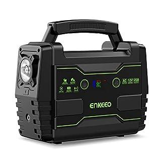 ENKEEO 155Wh/42000mah Station Energie Multifonctions Générateur Energie Solaire Portable Chargée de Solaires avec AC/DC/QC3.0 USB Ports pour Maison Chantier Voyage