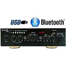 Amplificador Karaoke Bluetooth 100W + 100W Músicales Audibax Miami. Entrada 2 Micrófonos con volumen de mezcla y Echo. Radio FM .Entradas SD / USB . Mando a distancia