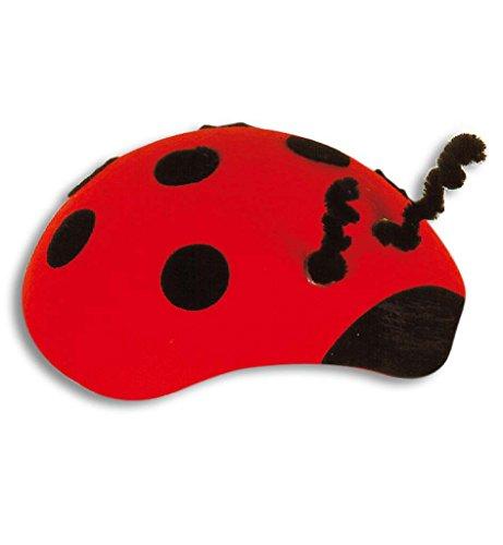 Marienkaefer-Hut rot, Kopfbedeckung, rund, schwarz-gepunktet (Marienkäfer Hut)