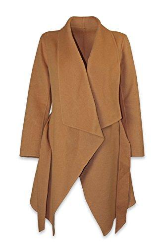 Well Knitting Damen Mantel Mehrfarbig Mehrfarbig Gr. 36, Mehrfarbig - Camel