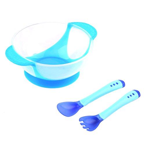 Set de cuenco con tenedor y cuchara para bebé