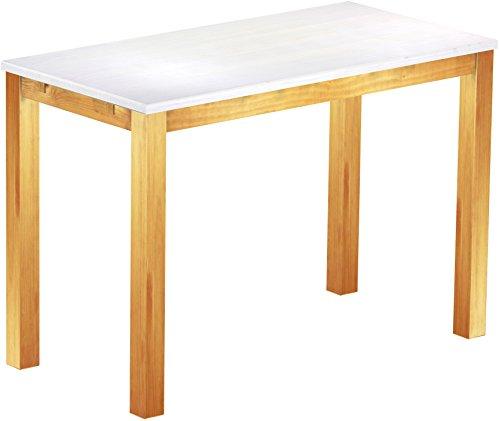 Brasil Meubles Haut 'Rio Classico' Table 200 x 80 cm, Pin Massif, Teinte Snow – Miel
