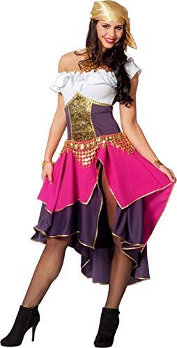 Esmeralda Kostüm - Zigeunerin Kostüm Damenkostüme Damen Karneval Fasching Kleid Bandana Bunt