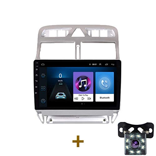 2 Din Android 8.1 Auto DVD Multimedia-Player Geeignet für Peugeot 307 307CC 307SW 2004-2013 Autoradio GPS-Navigation WiFi Bluetooth-Player-G-ZS-307-SXT_Vier Kern