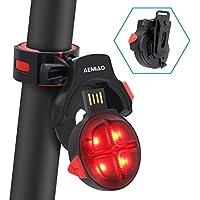 AEMIAO Luz Trasera para Bicicleta Wireless USB Recargable, Luz Bicicleta LED Sensor de Freno Inteligente Bici Luz de la Cola, Luces Ciclismo Impermeable, 5 Modos De Iluminación Seguridad Ciclismo, Instalación de dos maneras