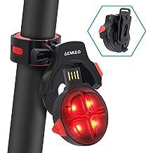 AEMIAO Luz Trasera para Bicicleta Wireless USB Recargable, Luz Bicicleta LED Sensor de Freno Inteligente Bici Luz de la Cola, Luces Ciclismo Impermeable, ...