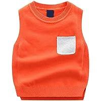 ZJEXJJ Chaleco de algodón de los niños Primavera y otoño Regalo de cumpleaños del bebé (Color : Orange, Tamaño : 100cm)