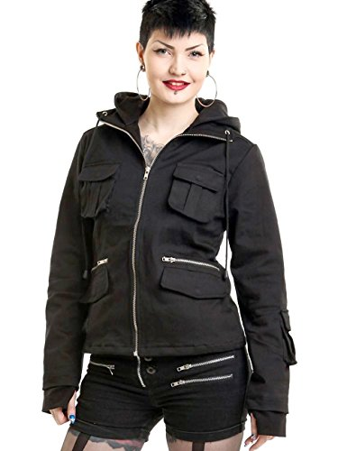 Poizen Industries -  Giacca  - Donna nero Large