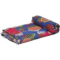 Jaipur Textil Hub 5yard Baumwollbatist Block Print traditionellen Multi Farbe Running Stoff indischen Design Dabu bedruckt (jth-rund-68)