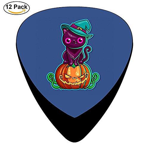 Halloween Cat With Original Style Celluloid Electric Guitar Picks 12-pack (Original Halloween Kiss)