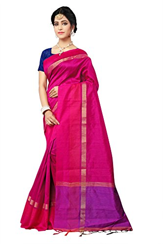 Indian Fashionista Silk Saree With Blouse Piece (Nrpt1168B_Pink_Free Size)