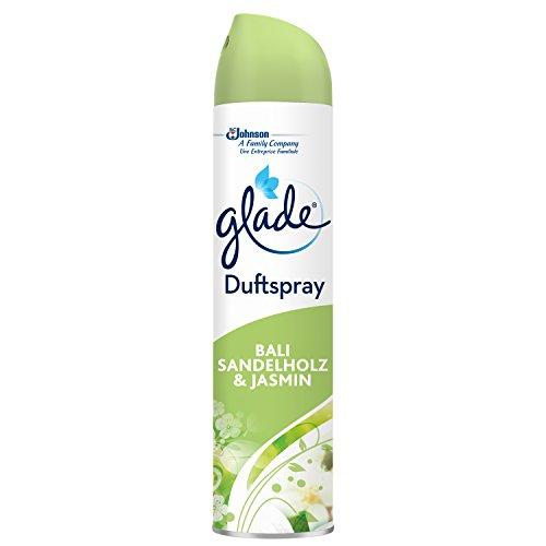 Glade by Brise Duftspray, Für langanhaltende Frische in allen Räumen, Erfrischender Bali Sandelholz & Jasmin-Duft, 300 ml