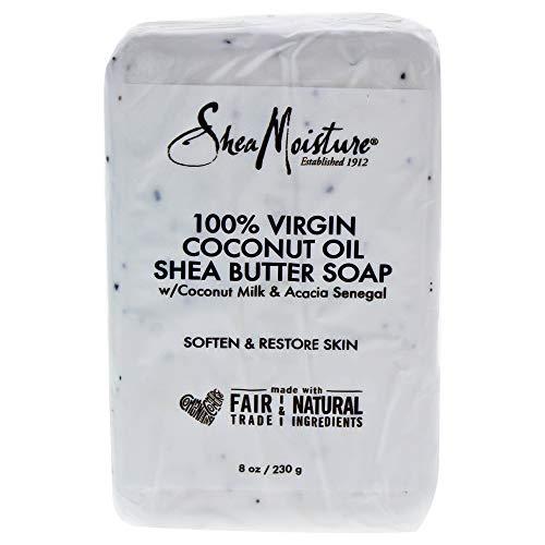 Shea Moisture 100% Virgin Coconut Oil Shea Butter Soap Bar 8oz 230g Seife - Oil Hair Coconut Virgin