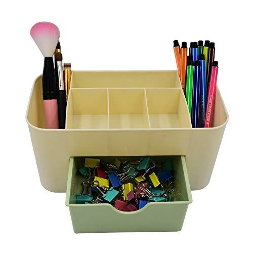 I Storage Desk Supplies Organizers, multifunktionaler Make-up-Schmuck Büromaterial Zubehör Aufbewahrungskoffer mit Schublade (Farbe : C)