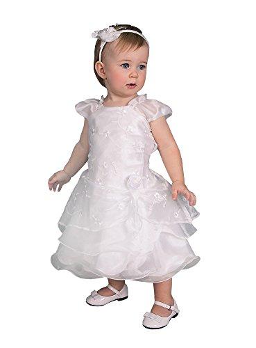 Kleid zur Taufe Baby bestickt in Frankreich hergestellt–Produkt Gespeichert und verschickt Schnell seit Frankreich, Weiß (Bestickt Taufe Kleid)