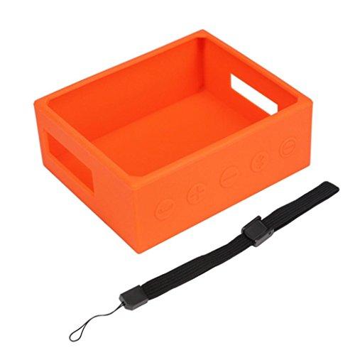 Tragbare Lautsprecher Silica Gel Aufbewahrungstasche für JBL GO Box Bluetooth Lautsprecher mit Travel Case Box (Orange) Silica Gel Case