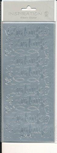 Kreativ Sticker Inspiration Zur Taufe silber