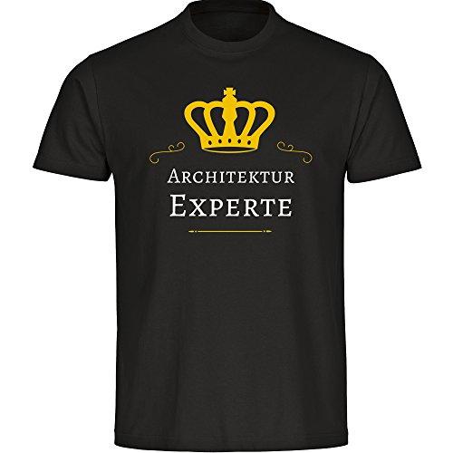 T-Shirt cuello redondo camiseta de manga corta de arquitectura experto negro infantiles...