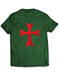 2b9469d92 lepni.me Camisetas Hombre El Caballero Templario de la Cruz Roja, el Templo  de
