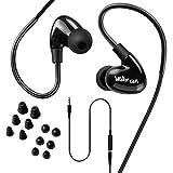 Walkercam WP1, IPX7 Intra-Auriculaires étanches, écouteurs de Natation pour Sport, Cordon Court en Y et 6 Paires d'embouts pour écouteurs Souples, Noir - Garantie de Remplacement d'un an