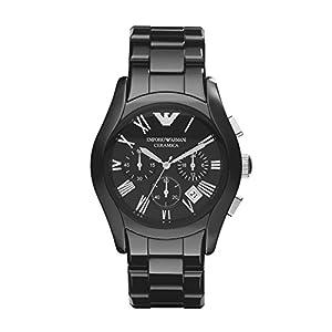 Reloj Emporio Armani AR1400 de cuarzo para hombre con correa de cerámica, color negro de Armani