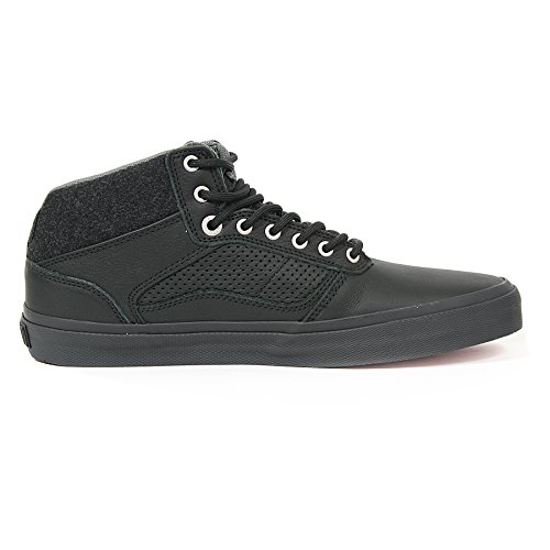 Vans Bedford Felt-Pack Black On Black Mid-Skateboard-Schuhe Black
