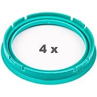 4 x Zentrierringe 76.0 auf 74.1 t/ürkis//turquoise