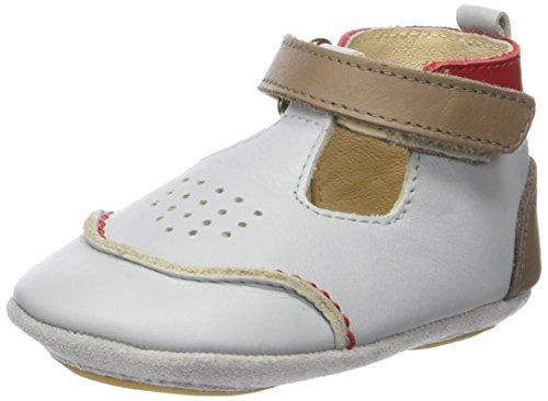 Robeez Salomon, Chaussures de Naissance Bébé Garçon Gris (Gris Clair)