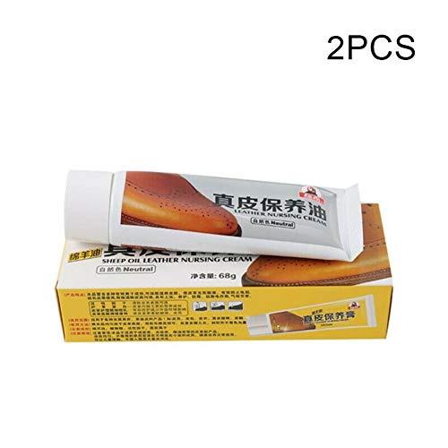 Percetey 2Pcs Leather Dye - Leather Repair and Scratch Repair for Shoes, Boots, Leather Furniture, Leather Nursing Cream Refinish Repairing Oil for Car Seat Sofa Shoes,Schuhcreme -