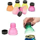 Igemy - Lot de 6 protections clipsables avec capuchon de bouteille pour canette - Empêchent de gâcher les boissons gazeuses et les bières