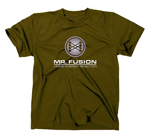 Mr Fusion T-shirt, flux soleil-babinet, Back To The Future, Retour vers le Futur Olive