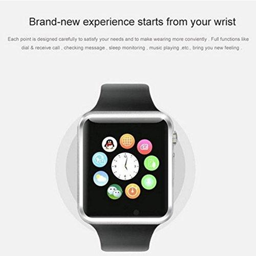 58d23a04dd9a Austec 2016 Nueva de Bluetooth A1 Smart Watch wristphone Reloj Deportivo  Para Apple iPhone 6 Samsung